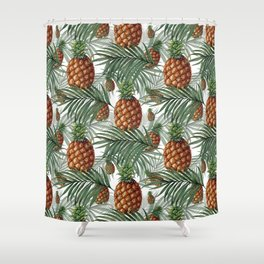 King Pineapple Shower Curtain