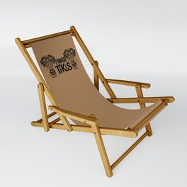 Power to the Tikis - beige Sling Chair