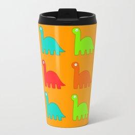 Cute Dino Pattern Walking Dinosaurs Travel Mug