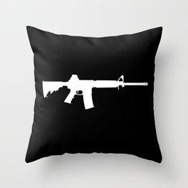 AR-15 (on black) Throw Pillow