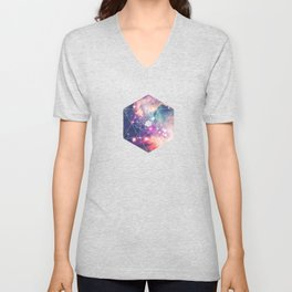 The Universe under the Microscope (Magellanic Cloud) Unisex V-Neck