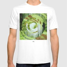 Forest Trips. Mens Fitted Tee MEDIUM White