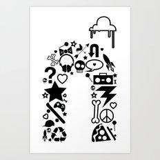makin it rain Art Print