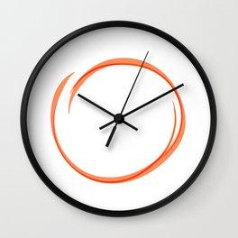 Orange Ring Wall Clock