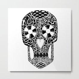 Scary cool skull illustration Metal Print