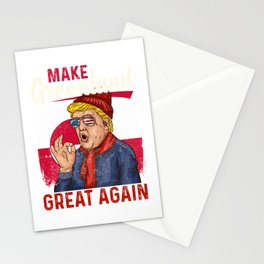 Make Greenland great again design President Trump Humor Stationery Cards