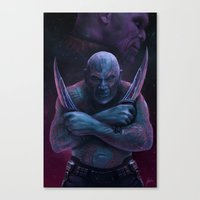 thanos Canvas Prints featuring Drax and Thanos by Jaime Gervais