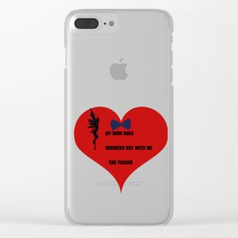 the heart is vain Clear iPhone Case