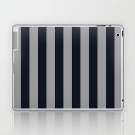 Vertical Stripes Black & Cool Gray Laptop & iPad Skin