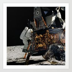 NASA Apollo 12 Lunar Module Space Craft - Astronaut Alan L. Bean 1969 Print Art Print