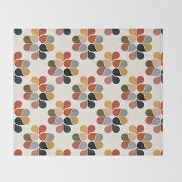 Retro geometry pattern Throw Blanket