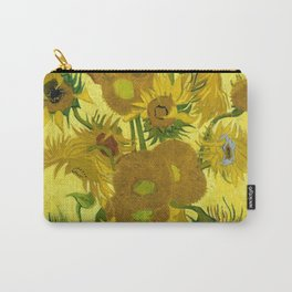 Vincent van Gogh : Sunflowers 1889 Carry-All Pouch