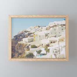 Santorini Island, Greece Framed Mini Art Print