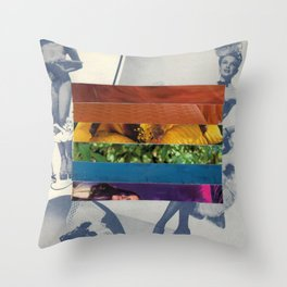 Ladies of Pride - Gay and Lesbian Pride Flag Collage by Mackenna Morse Throw Pillow