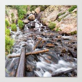 Colorado Rocky Mountain Riverscape - Square Format Canvas Print