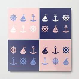 AFE Nautical Elements Metal Print
