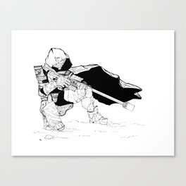 Hunter in the Wastes Canvas Print