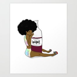 Wine Down Art Print