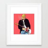 kurt rahn Framed Art Prints featuring Kurt by Rhys Barney
