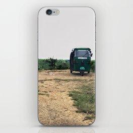 Tuktuk on a mountain top iPhone Skin