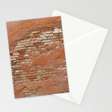 Orange Brick Wall Stationery Cards