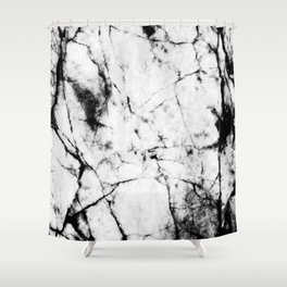 Marble Concrete Stone Texture Pattern Effect Dark Grain Shower Curtain