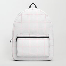 White and Pink Grid Backpack
