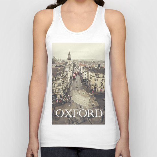 Red buses at Oxford Unisex Tank Top