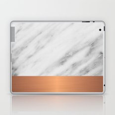 Carrara Italian Marble Holiday Rose Gold Edition Laptop & iPad Skin
