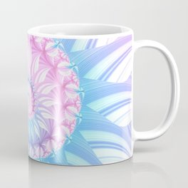 Striped Pastel Spiral in Pink, Blue and Purple Coffee Mug