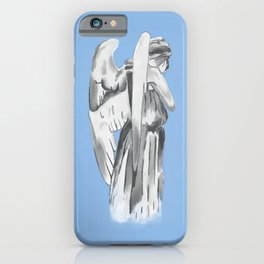 Weeping angel - Doctor Who - blue iPhone Case