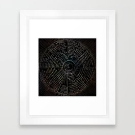 The Names of the Witches Framed Art Print