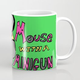 Mouse with a Minigun Coffee Mug