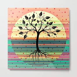 Roots and Branches Metal Print