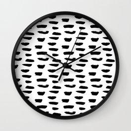 Abstract Hand Drawn Patterns No.9 Wall Clock