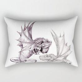 Two Dragons Rectangular Pillow