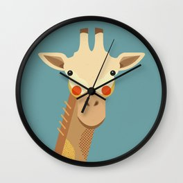 Giraffe, Animal Portrait Wall Clock
