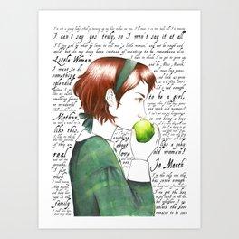 Jo March - Little Women Art Print