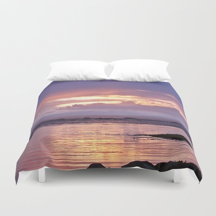 Misty Sunset Duvet Cover