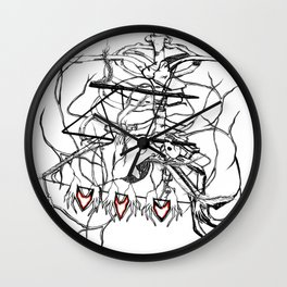 Ribs for Valentine's Day Wall Clock
