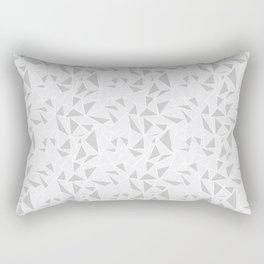 Triangle Pattern Grey Rectangular Pillow