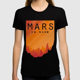 MARS Space Tourism Travel Poster T-shirt