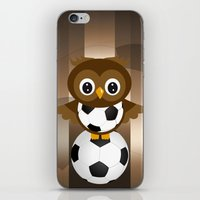 soccer iPhone & iPod Skins featuring Soccer Owl by Simone Gatterwe