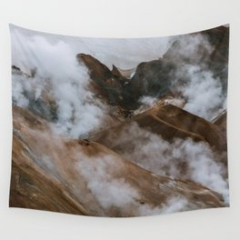 Kerlingjarfjöll smoky Mountains in Iceland - Landscape Photography Wall Tapestry