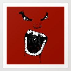 Hungry Hungry Hulk // Red Art Print
