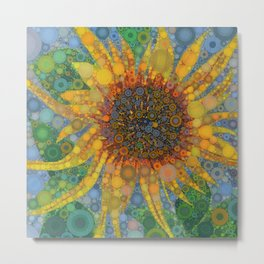 Percolated Sunflower Metal Print