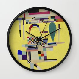 Wassily Kandinsky - Yellow Painting Wall Clock