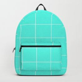 Graph Paper (White & Turquoise Pattern) Backpack