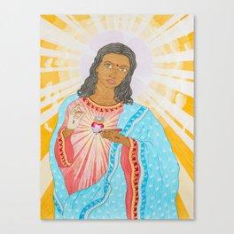 Sacred Heart (self-portrait) Canvas Print