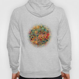 Dots on Painted and Gold Background Hoody